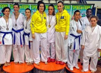 Arezzo Karate podio aics