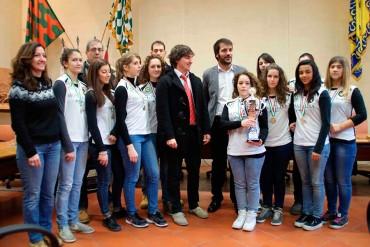 Il Bsc Arezzo festeggia in Comune la vittoria della Coppa Italia – FOTO