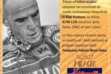 Mostra e vendita benefica Foto Gigi Soldano su Fabrizio e la Dakar