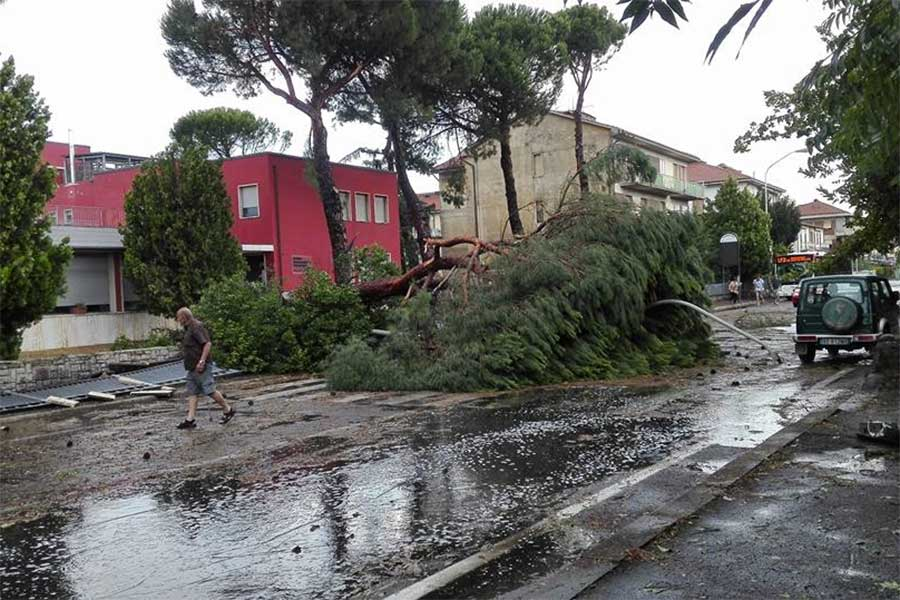 Tromba d'aria su Arezzo, ferito un 60enne di Cavriglia, coinvolto nel