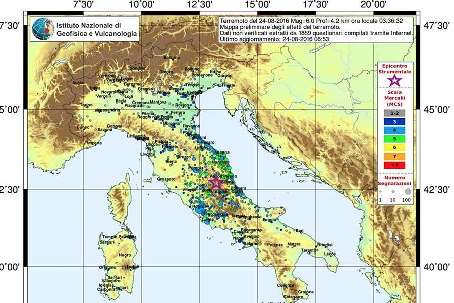 Terremoto in Centro Italia. Interviene anche la Protezione civile siciliana