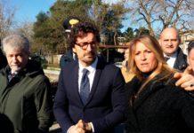 Silvia Chiassa Martini e il ministro Danilo Toninelli in un sopralluogo a Ponte Buriano