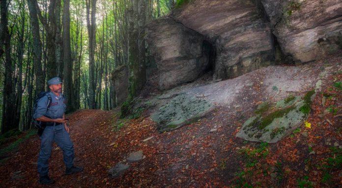 Carabinieri nei sentieri del Parco nazionale Foreste casentinesi