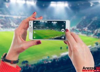 Foto dal cellulare allo sport - stadio - calcio