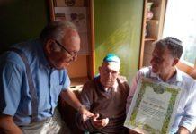 Ugo Jona - partigiano ultracentenario cittadino onorario di Cavriglia