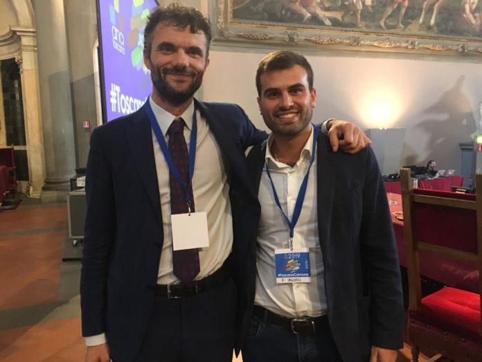 Filippo Vagnoli con Matteo Biffoni