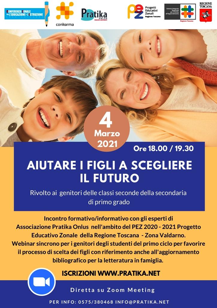 Aiutare i figli a scegliere il futuro. Il 4 marzo incontro con il Prof. Batini