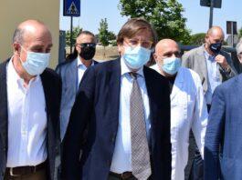 Da sinistra: Antonio D'Urso, Pierpaolo Sileri, Simone Bezzini